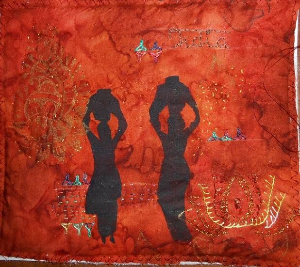 4cartes indiennes peintes
