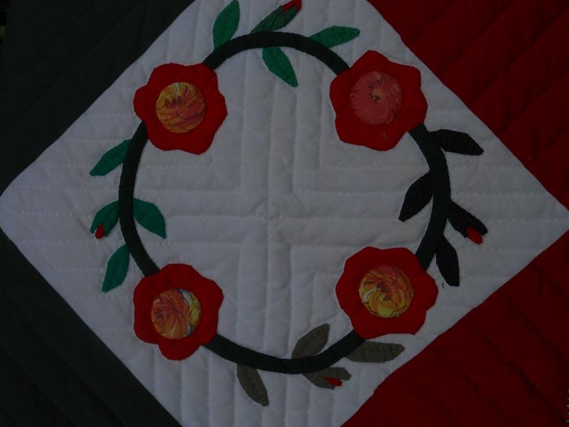 Corbeille de noel en patchwork fabric