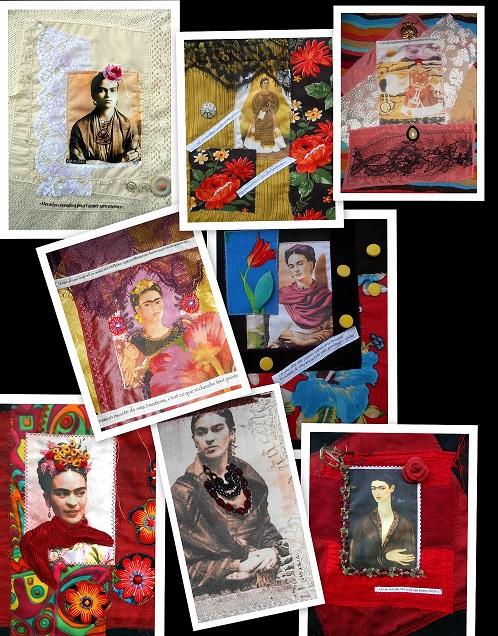 montage Frida Kahlo