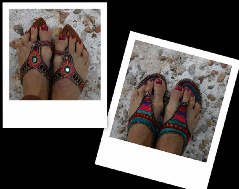 trouver chaussons son pied en les faisant soi m me artisanne textile. Black Bedroom Furniture Sets. Home Design Ideas