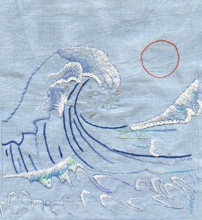 vague hokusai21 Echanges textiles